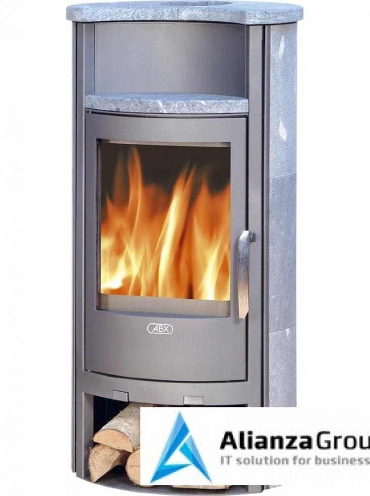 Печь-камин ABX Pori 7 (серая сталь, талькохлорит)