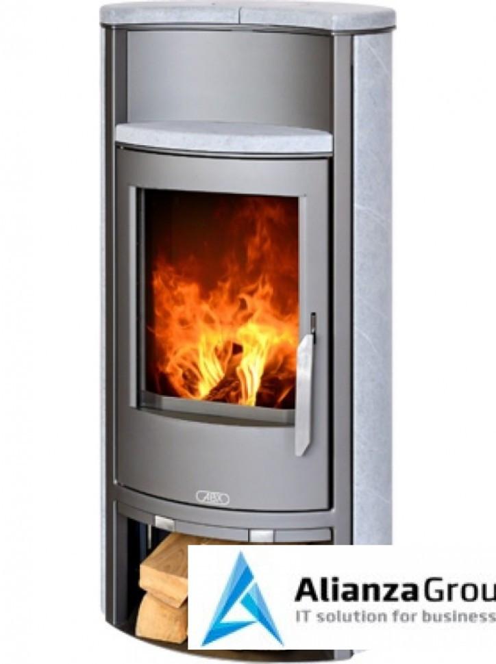 Печь-камин ABX Pori 5 (серая сталь, округлый тальк)