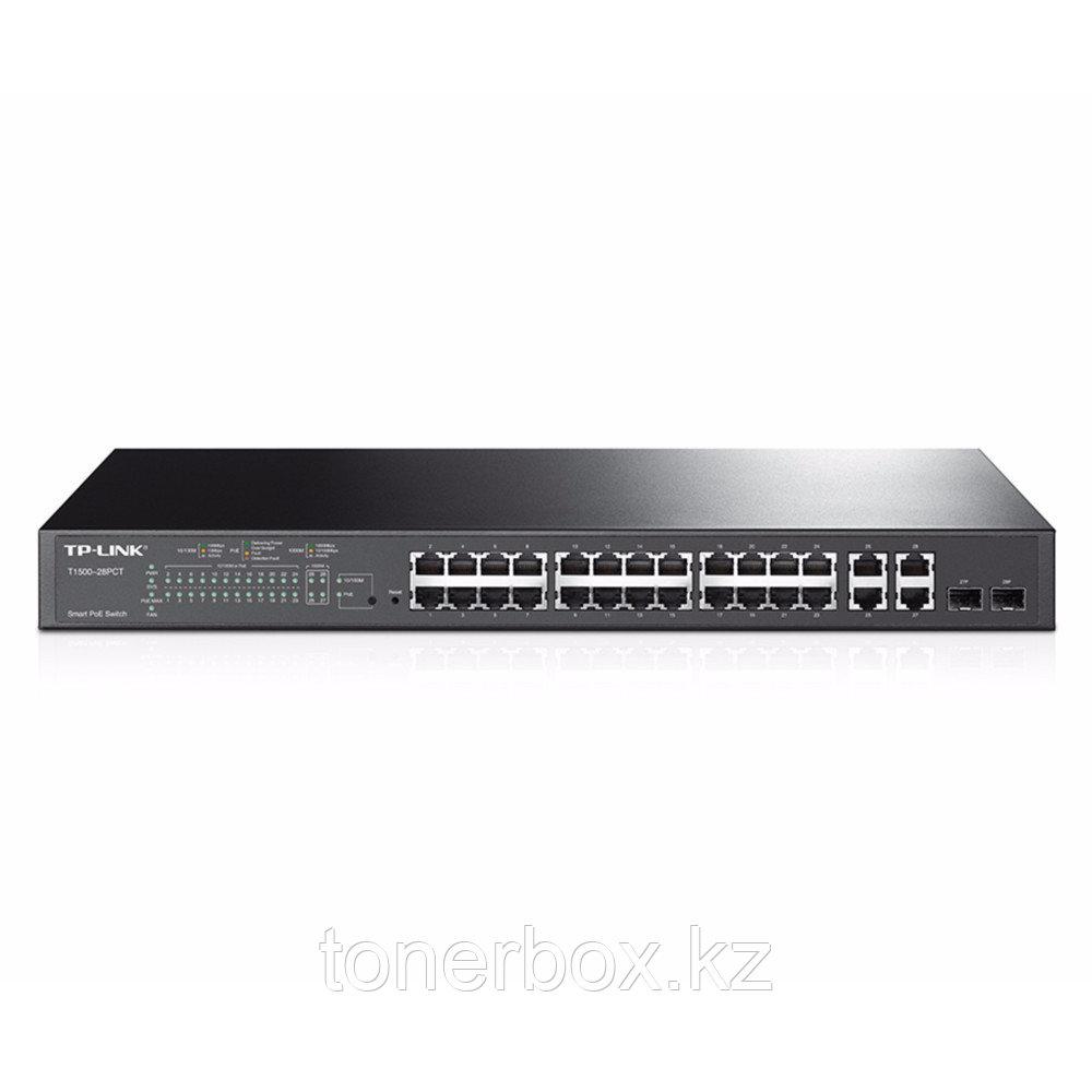 Коммутатор TP-Link T1500-28PCT (100 Base-TX (100 мбит/с), 2 SFP порта)