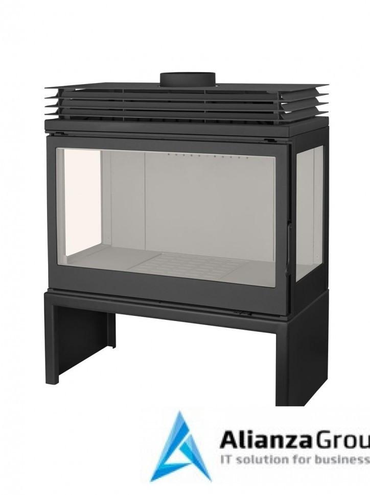 Печь-камин Liseo Castiron LCI 9 GFLR Stove, два боковых стекла