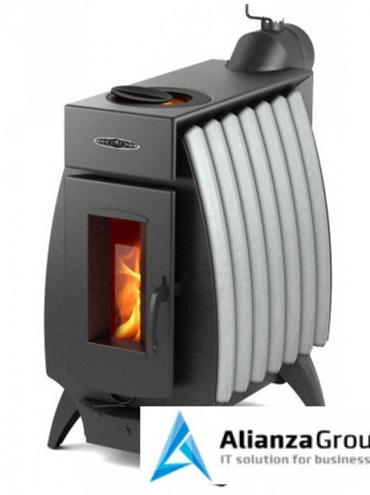 Отопительно-варочная печь Термофор Огонь-батарея 7 антрацит-серый металлик