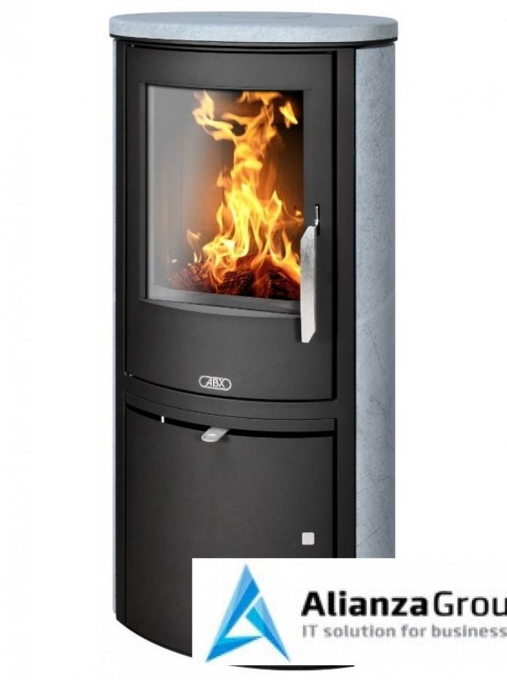 Печь-камин ABX Brent (черная сталь, талькохлорит)