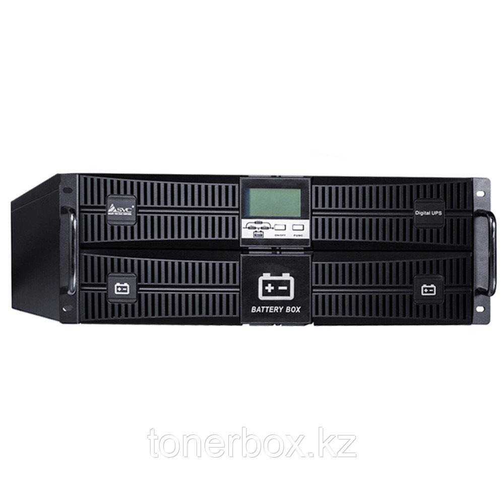 Источник бесперебойного питания SVC RT-6KL-LCD (Двойное преобразование (On-Line), C возможностью установки в стойку, 6000 ВА, 6000 Вт)
