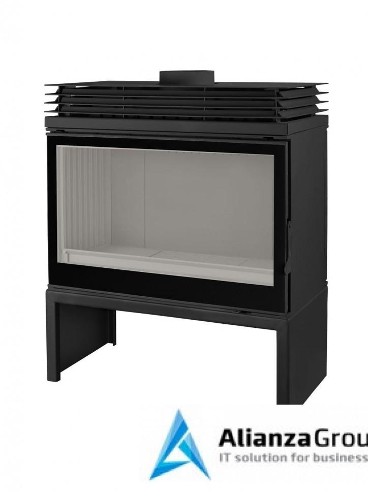 Печь-камин Liseo Castiron LCI 9 GF BG Stove, черное стекло