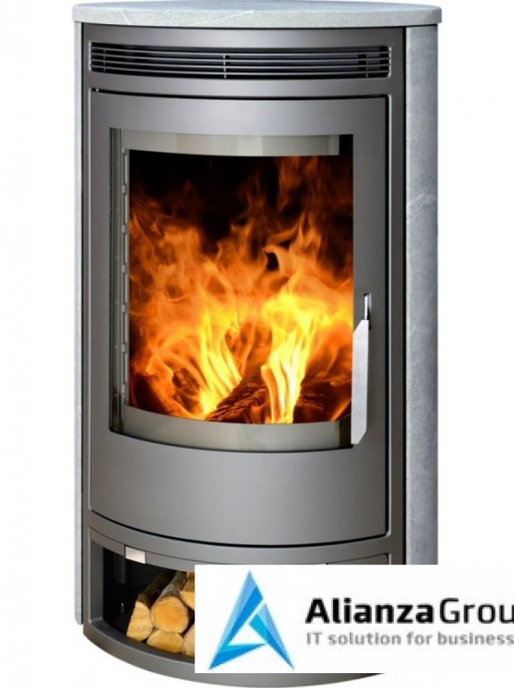 Печь-камин ABX Arktis 8 (серая сталь, талькохлорит)