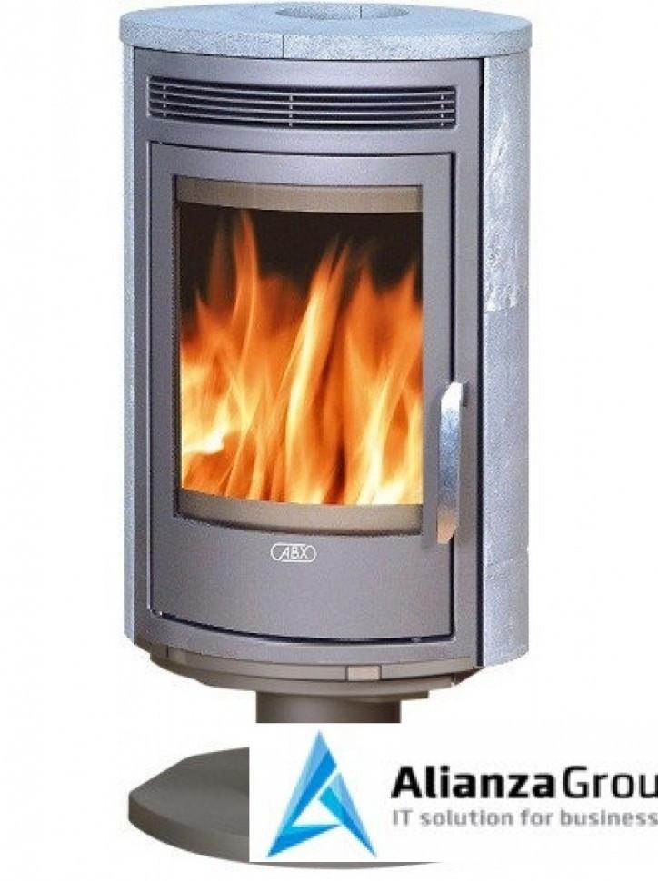 Печь-камин ABX Arktis 8 (поворотный, серая сталь, талькохлорит)