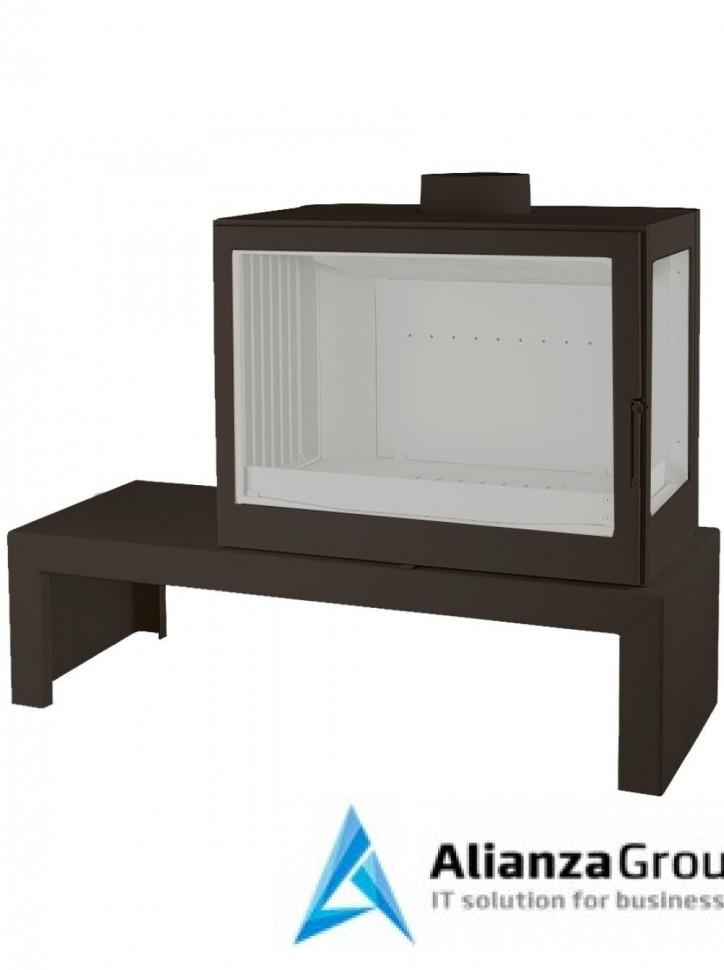 Печь-камин Liseo Castiron LCI 7 GFR Table, стекло справа
