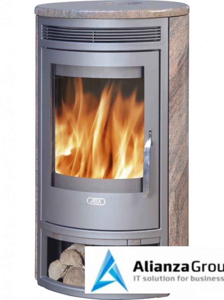 Печь-камин ABX Arktis 6 (серая сталь, талькохлорит)