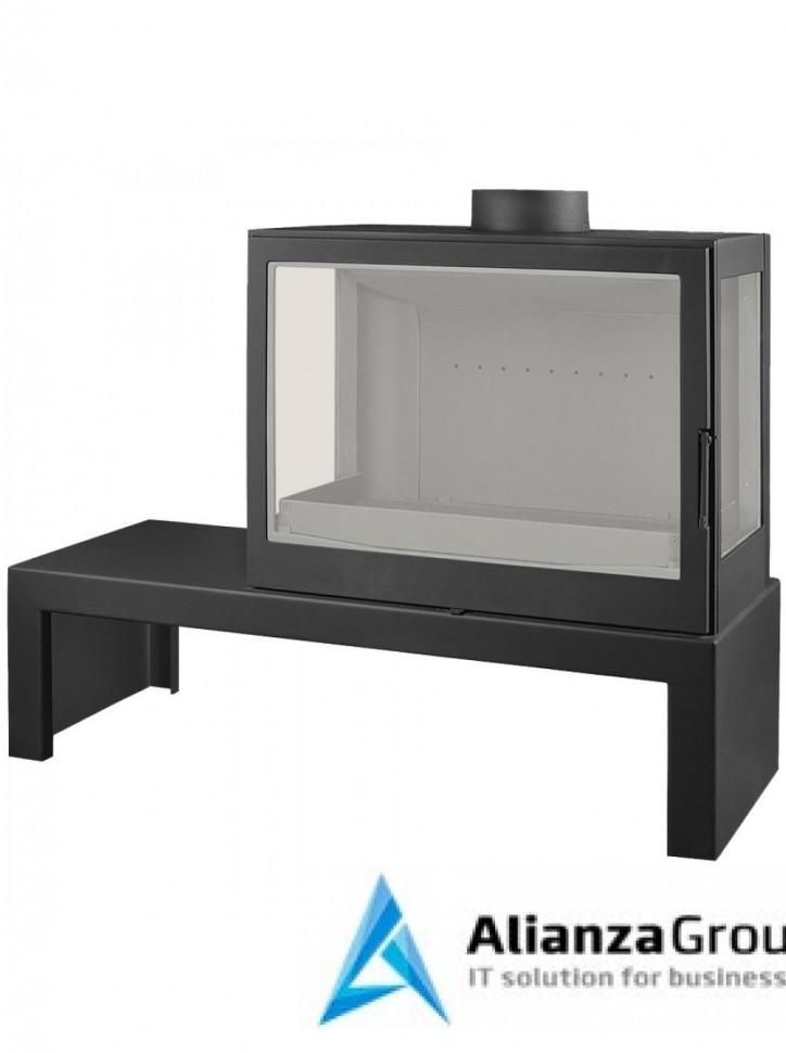 Печь-камин Liseo Castiron LCI 7 GFLR Table, два боковых стекла