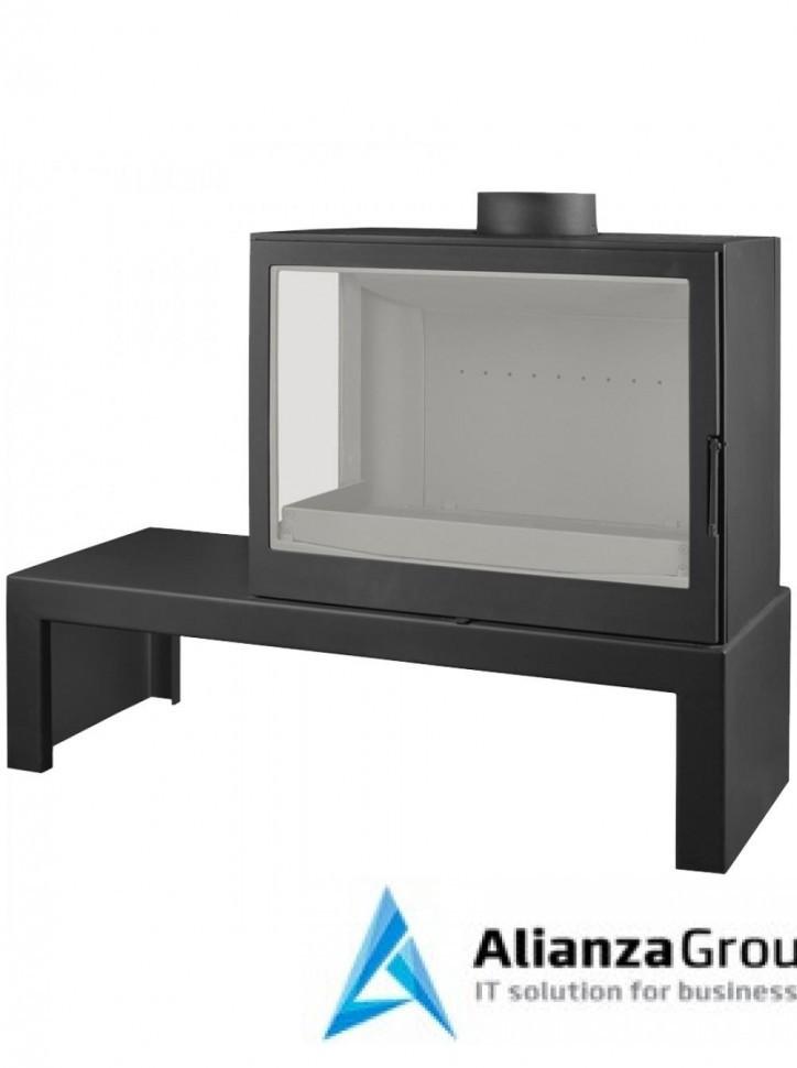 Печь-камин Liseo Castiron LCI 7 GFL Table, стекло слева