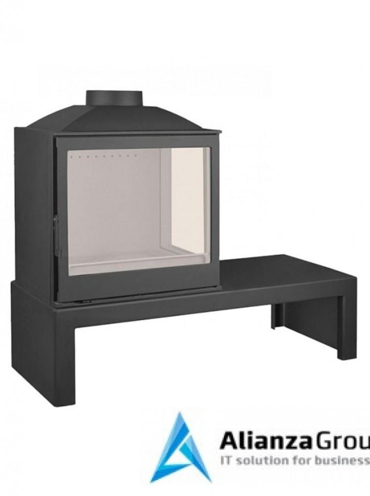 Печь-камин Liseo Castiron LCI 5 GFR Table, стекло справа