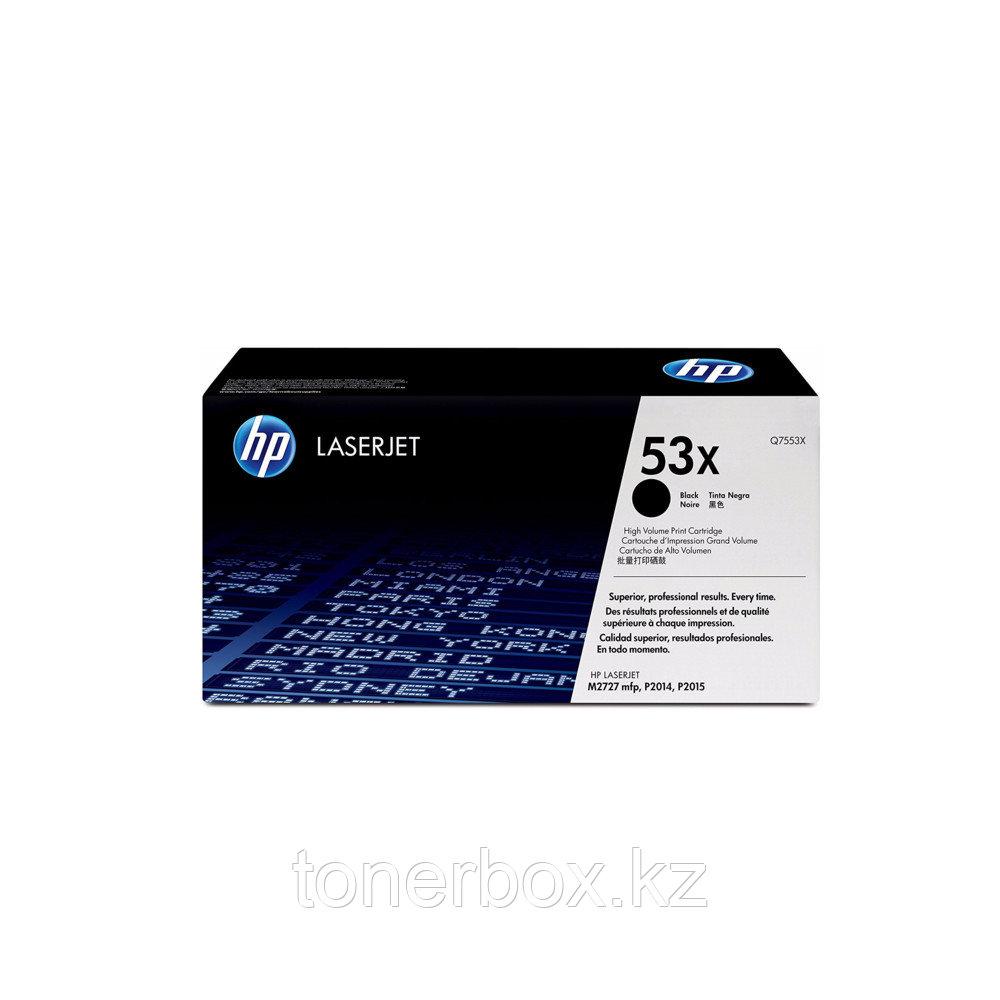 Лазерный картридж HP 53X увеличенной емкости, Черный Q7553X