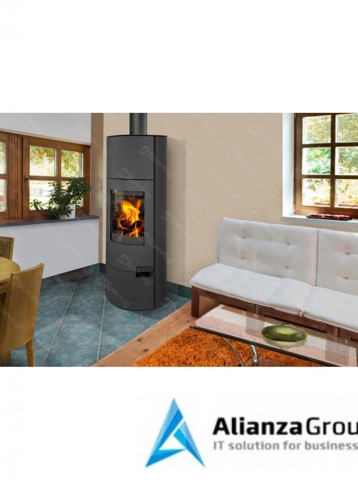 Печь-камин Romotop Lugo 03 W с теплообменником - листовой металл