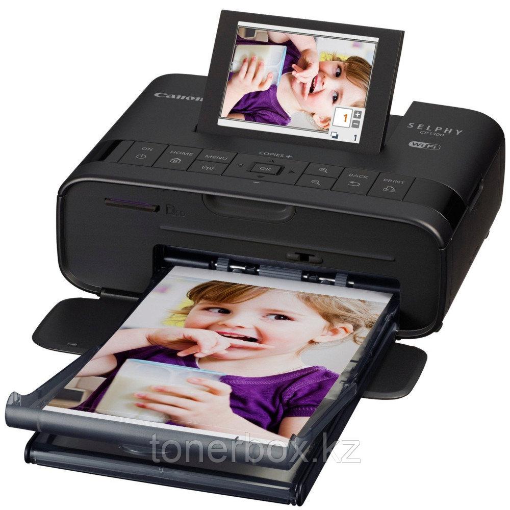 Принтер Canon SELPHY CP1300 BLACK 2234C011 (A6, Термосублимационный, Цветной)
