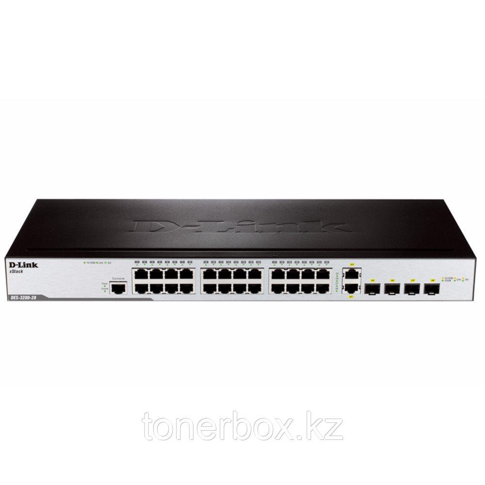 Коммутатор D-link DES-3200-28/C1A (100 Base-TX (100 мбит/с), 2 SFP порта)