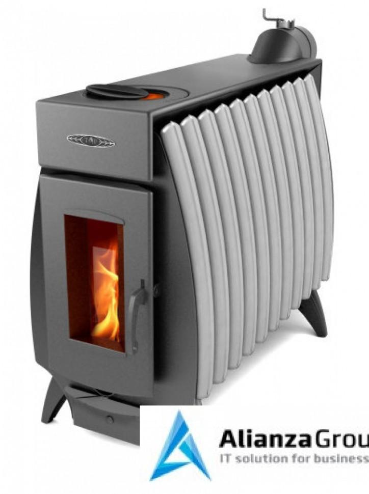 Отопительно-варочная печь Термофор Огонь-батарея 11 антрацит-серый металлик