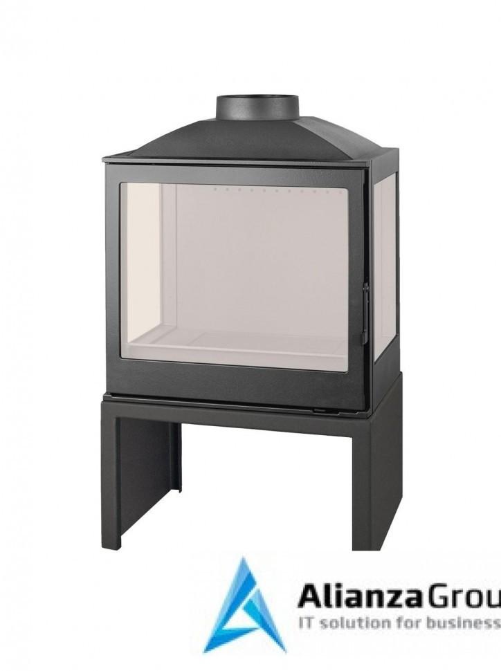 Печь-камин Liseo Castiron LCI 5 GFLR Stove, два боковых стекла