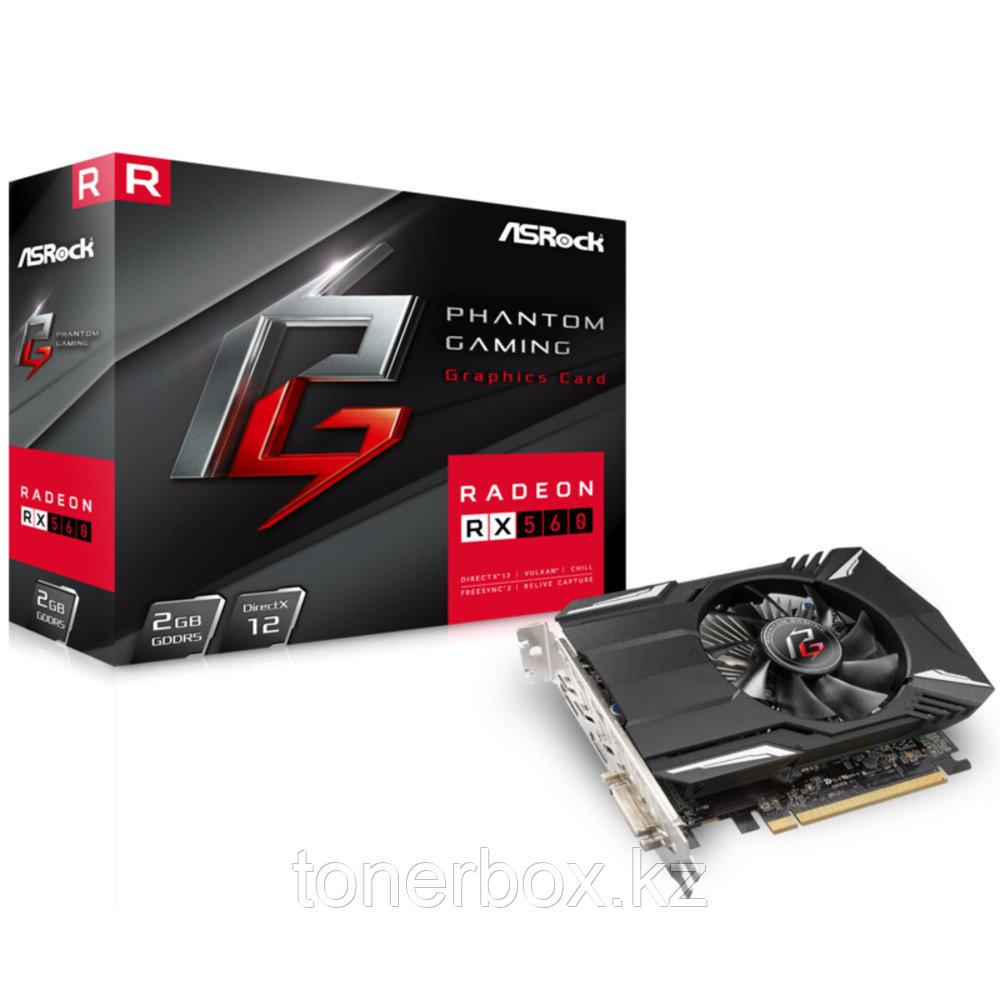 Видеокарта ASRock Phantom Gaming Radeon RX560 PHANTOM GR RX560 2G (2 Гб)