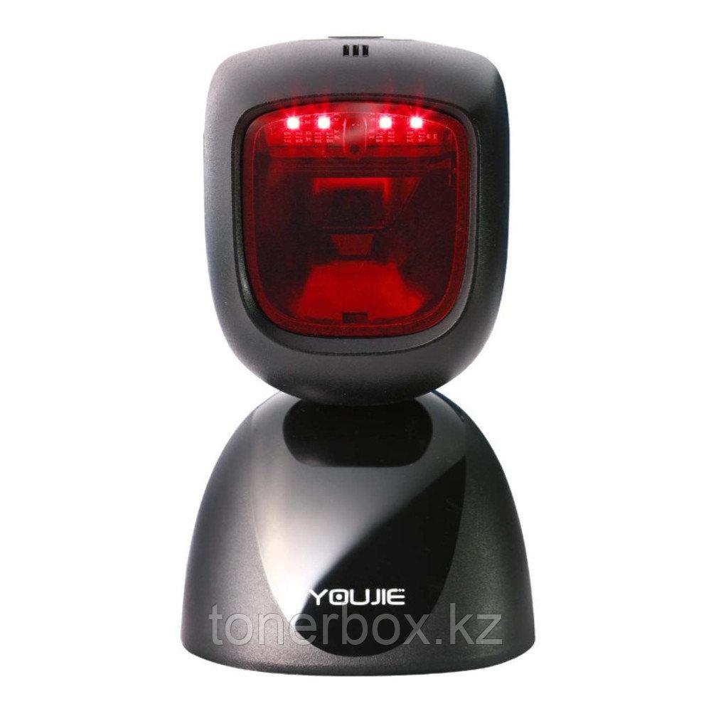 Сканер штрихкода Honeywell HF600 YJ-HF600-R1-USB (USB, Черный, Не требуется, Стационарный)