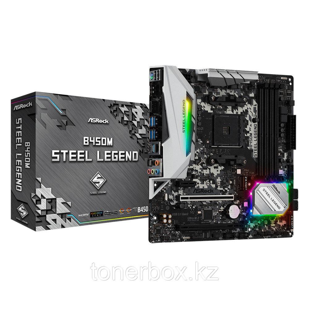 Материнская плата ASRock B450M STEEL LEGEND (microATX, AMD AM4)