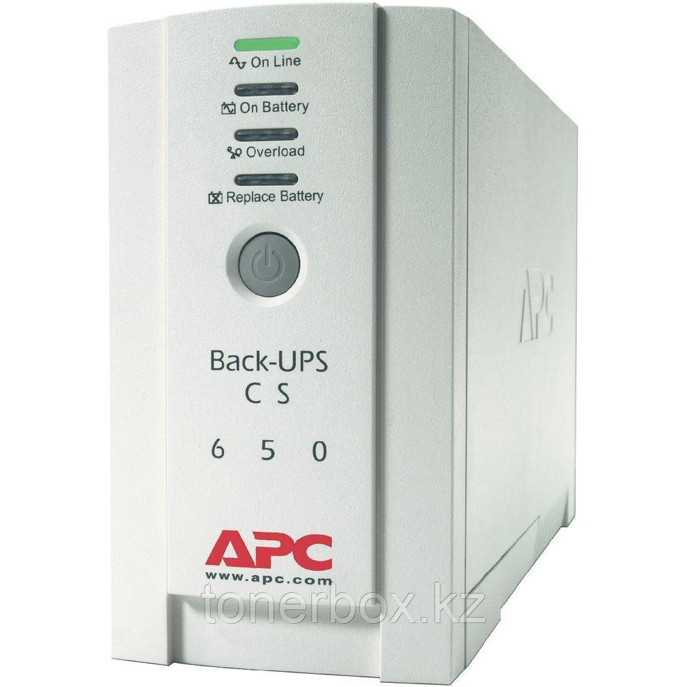 Источник бесперебойного питания APC Back-UPS 650 BK650EI (Линейно-интерактивные, Напольный, 650 ВА, 400 Вт)