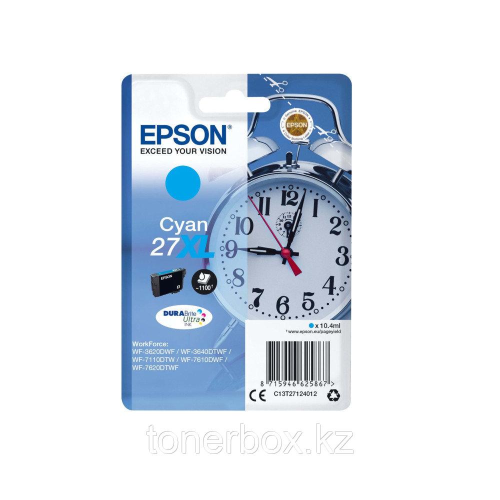 Струйный картридж Epson №27 XL Голубой C13T27124022