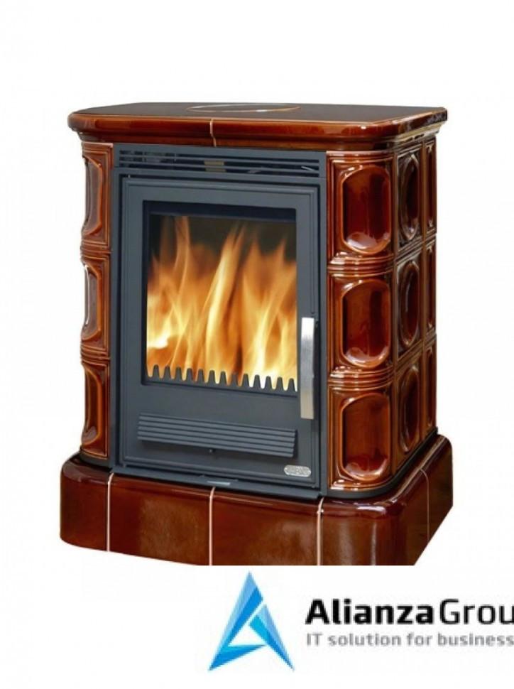 Кафельная печь-камин ABX Marina KP (кафельный цоколь, вставка комбо) с теплообменником
