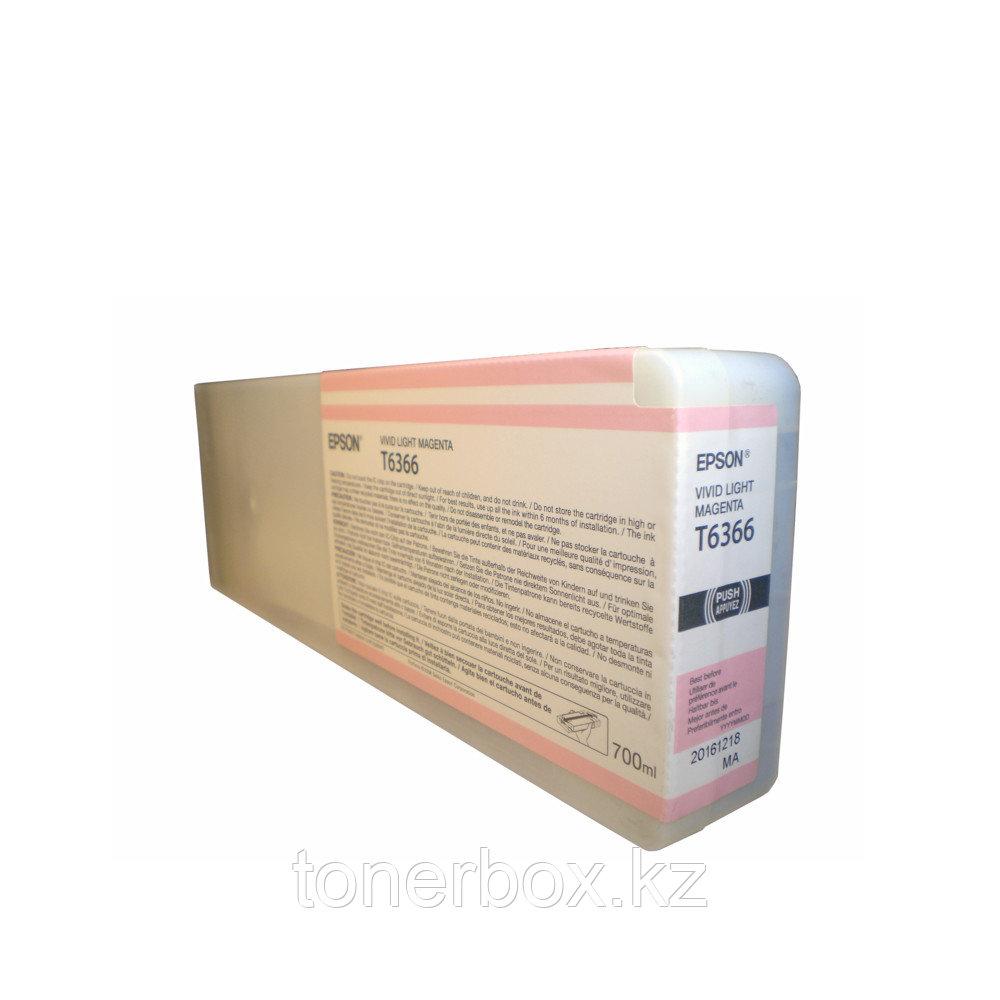 Струйный картридж Epson T6366 Светло-пурпурный C13T636600