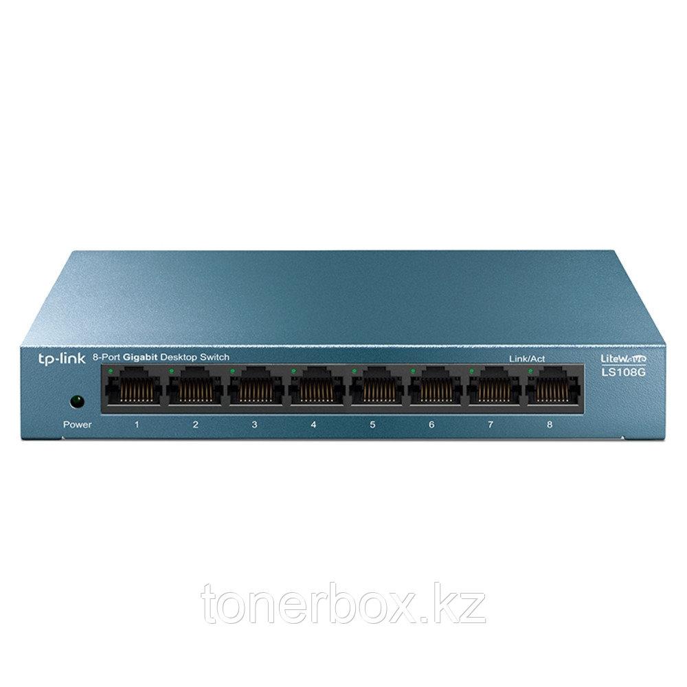 Коммутатор TP-Link LS108G (1000 Base-TX (1000 мбит/с), Без SFP портов)