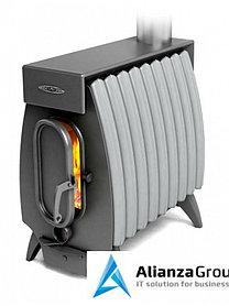 Отопительная печь Термофор Огонь-батарея 9 ЛАЙТ антрацит-серый металлик