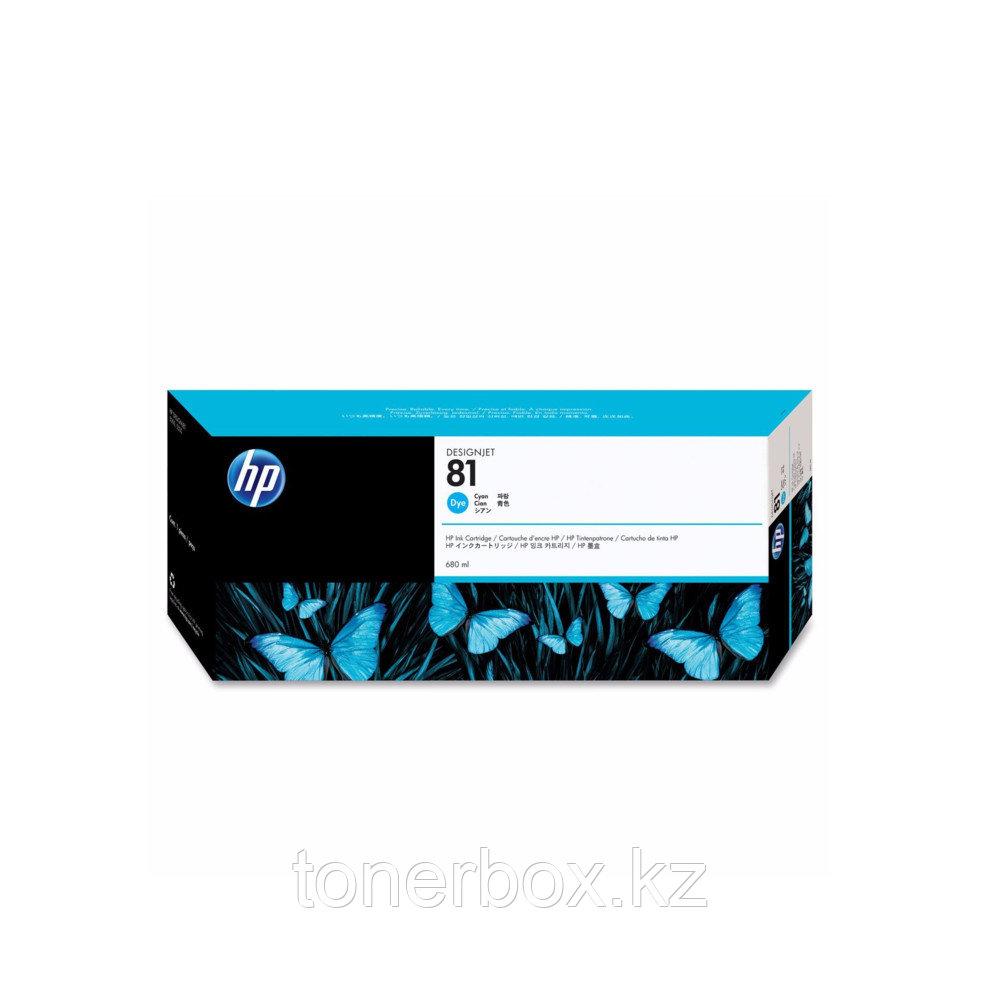 Струйный картридж HP №81 Голубой 680 мл C4931A