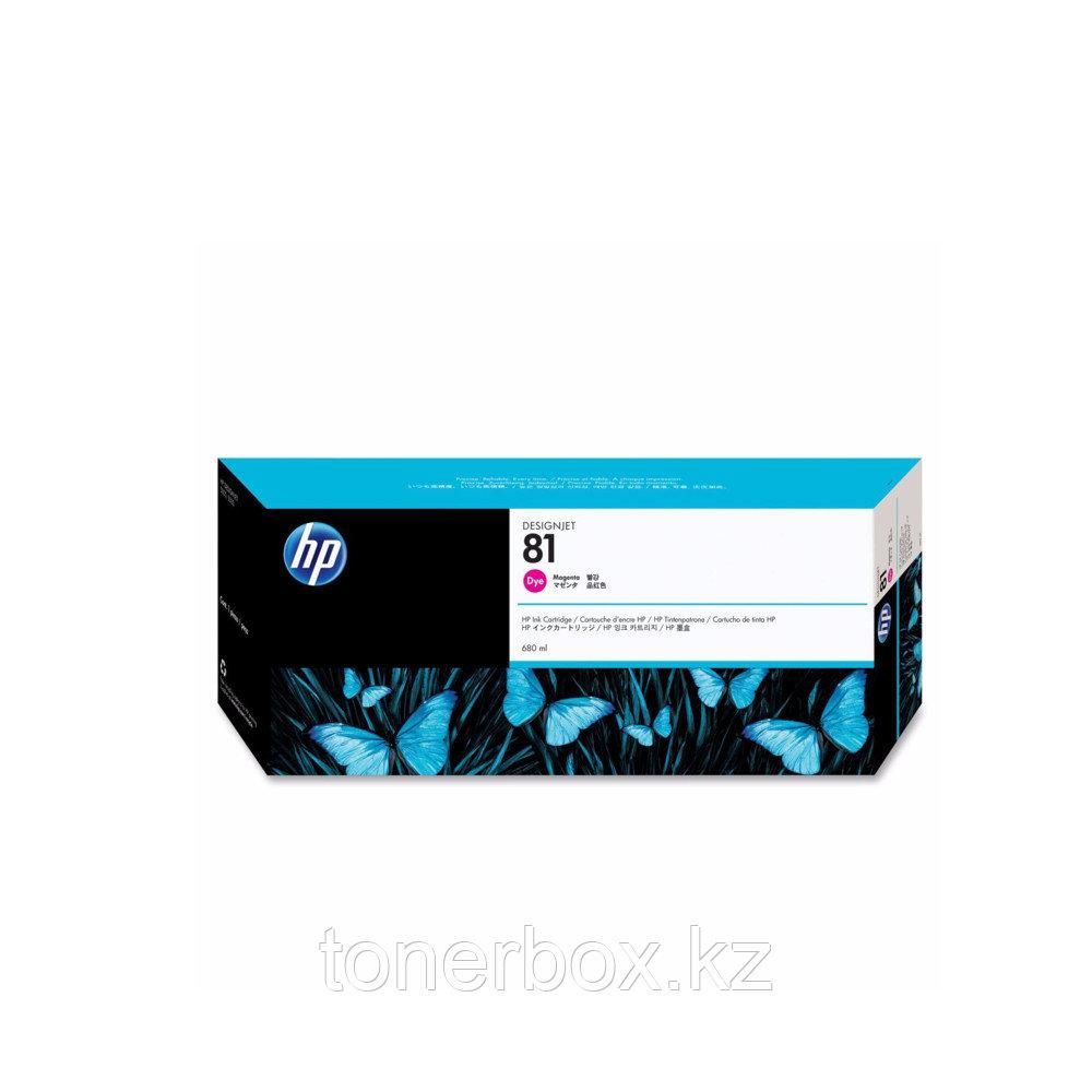 Струйный картридж HP №81 Пурпурный 680 мл C4932A
