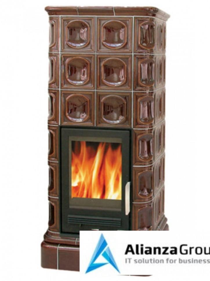Кафельная печь-камин ABX Kaledonie L (чугунная вставка)