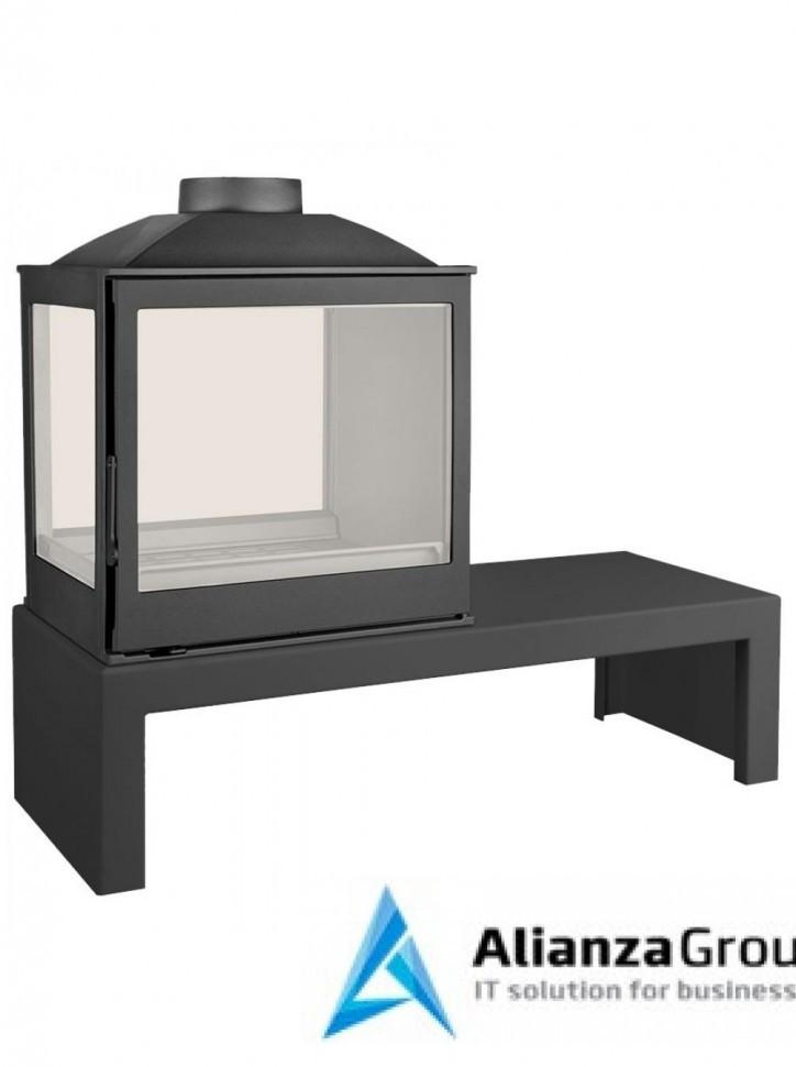 Печь-камин Liseo Castiron LCI 5 GDFs Table, двусторонняя, стекло слева