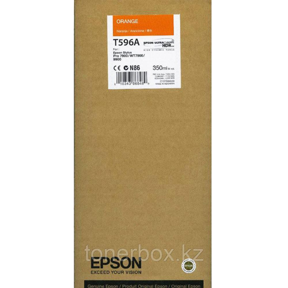 Струйный картридж Epson T596A C13T596A00 оранжевый