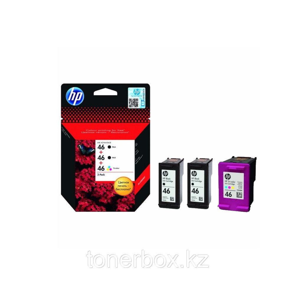 Струйный картридж HP №46 черный (2)/трехцветный (1) F6T40AE