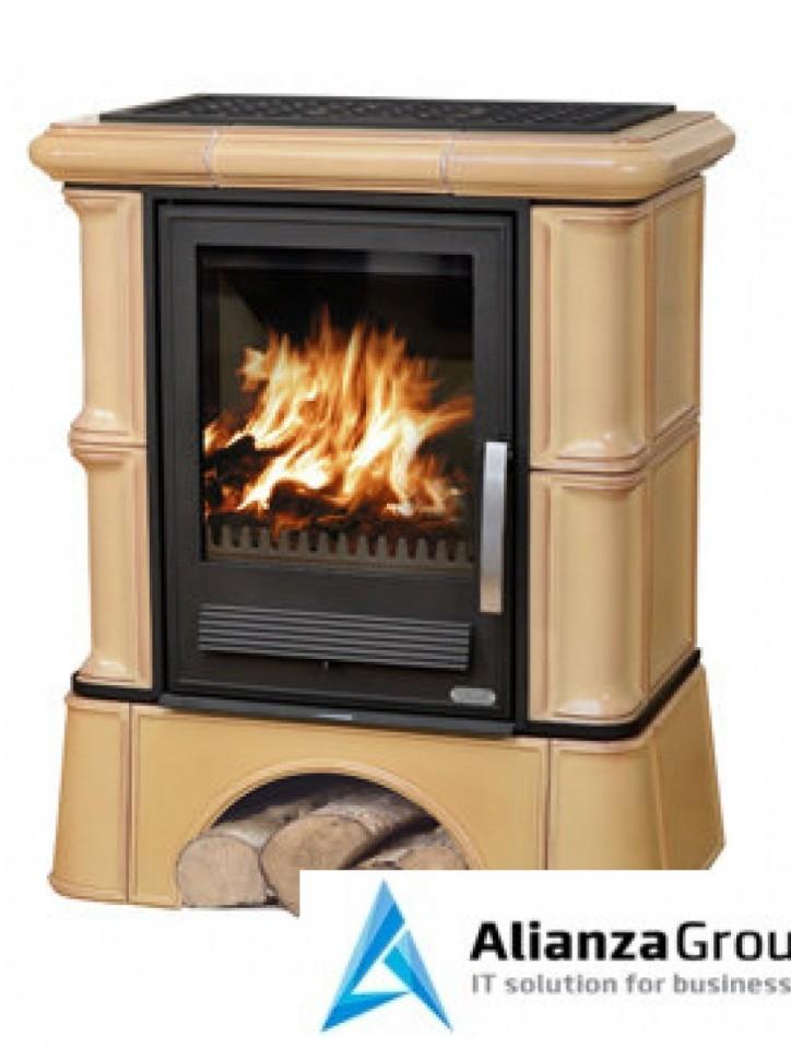 Кафельная печь-камин ABX Bavaria K (кафельный цоколь) с теплообменником (6,9 кВт в воду)