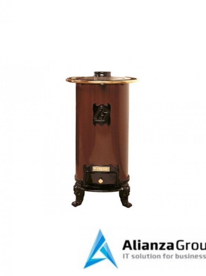 Печь-камин Hergom Lebena, окрашена в коричневый цвет