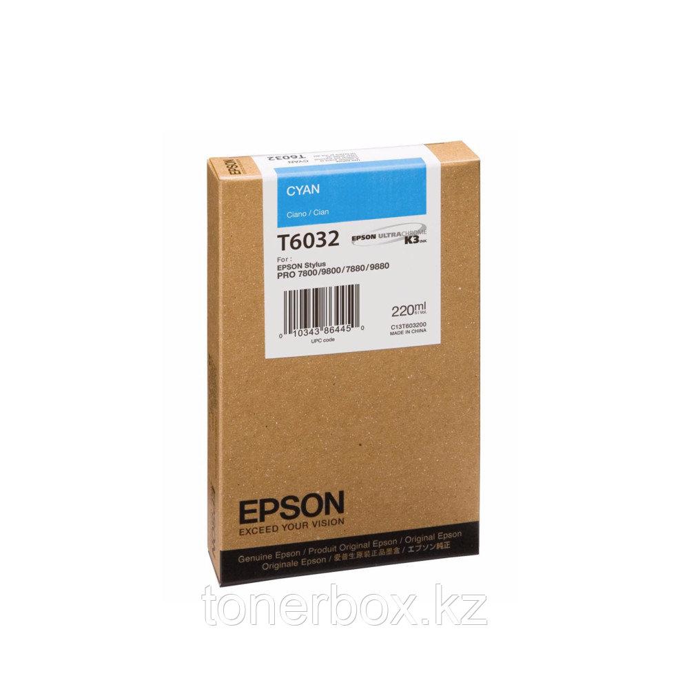 Струйный картридж Epson T6032 Голубой C13T603200