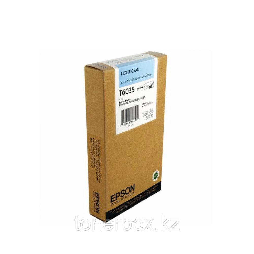 Струйный картридж Epson T6035 Светло-голубой C13T603500