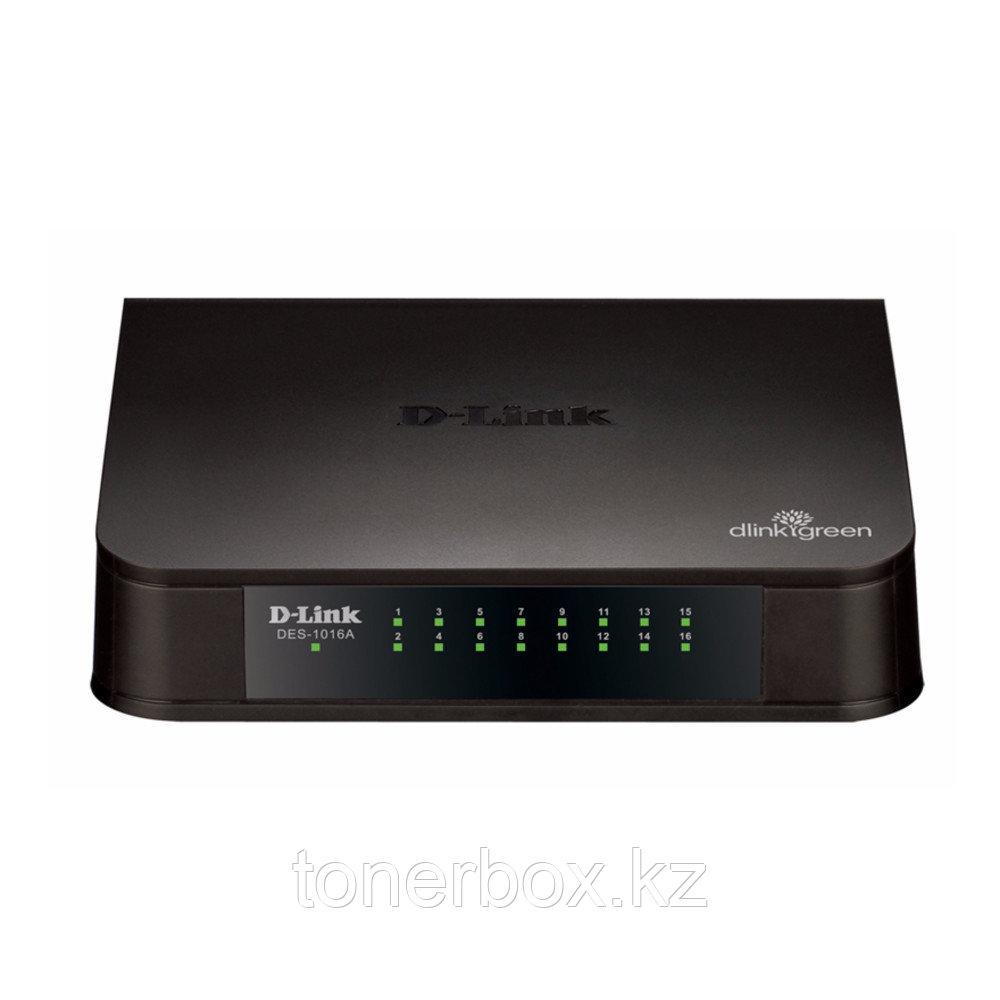 Коммутатор D-link DES-1016A/E1B (100 Base-TX (100 мбит/с), Без SFP портов)
