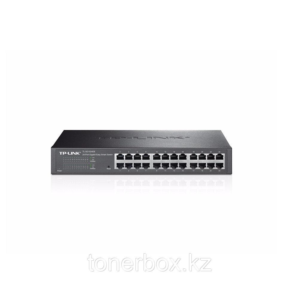 Коммутатор TP-Link Easy Smart TL-SG1024DE (1000 Base-TX (1000 мбит/с), Без SFP портов)