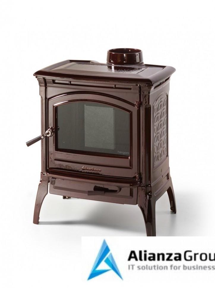 Печь-камин Hergom Craftsbury, эмалирована в коричневый цвет