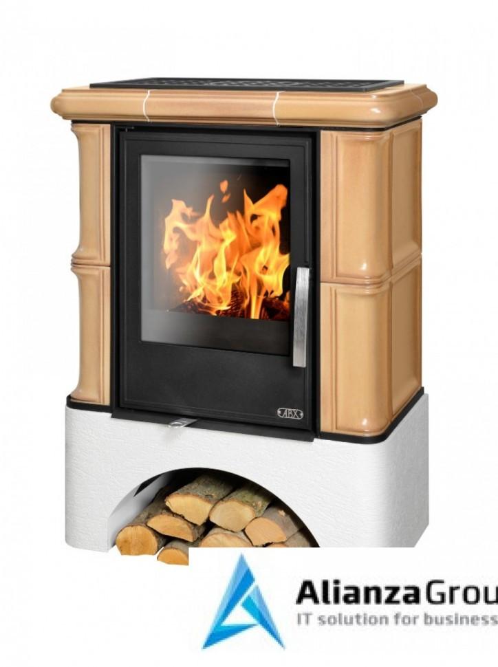 Кафельная печь-камин ABX Bavaria KI (прямой цоколь, вставка комбо, допуск воздуха извне)
