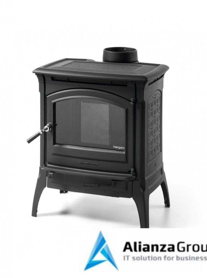 Печь-камин Hergom Craftsbury, окрашена в черный цвет