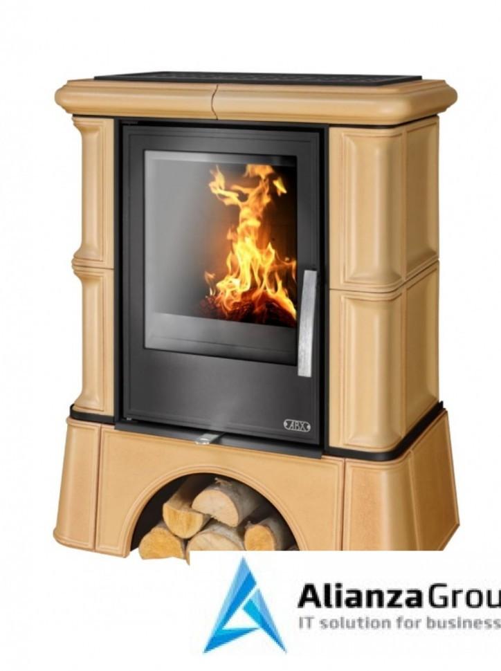 Кафельная печь-камин ABX Bavaria KI (кафельный цоколь, вставка комбо, допуск воздуха извне)