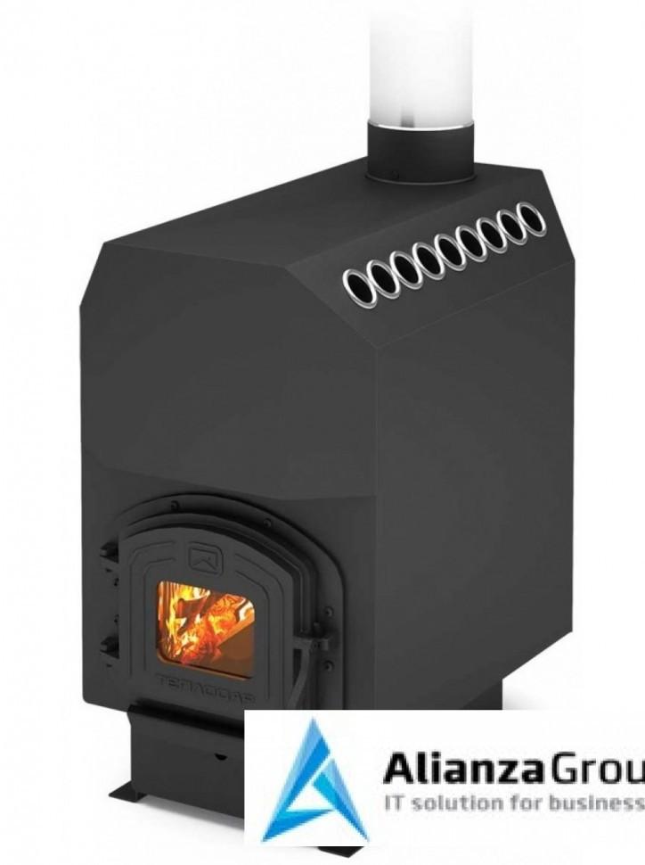 Отопительная печь Теплодар ТОП модель 300 с чугунной дверцей