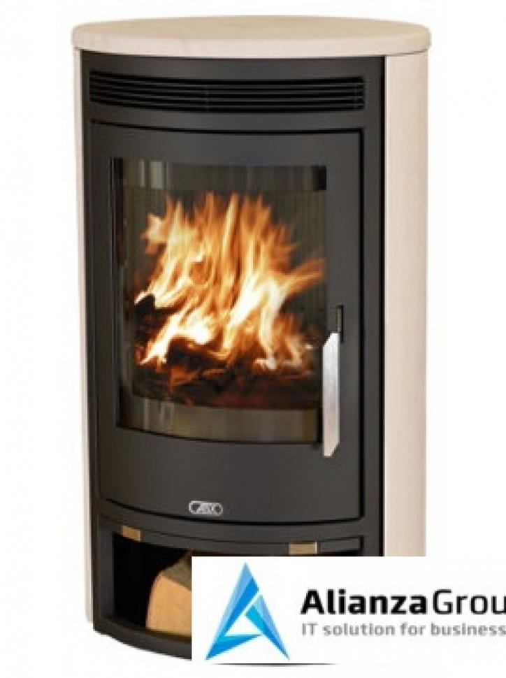Печь-камин ABX Arktis 8 (черная сталь, мокка крем)