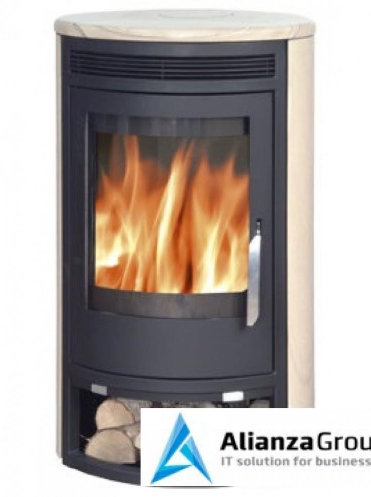 Печь-камин ABX Arktis 8 (черная сталь, бразильский песчаник)