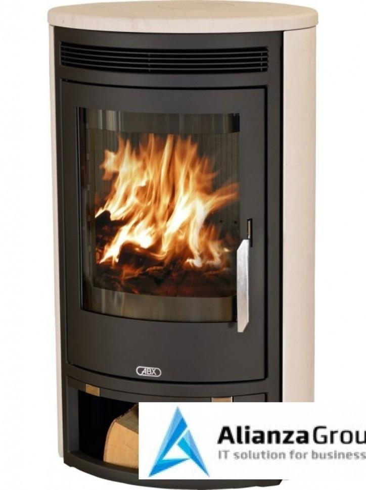 Печь-камин ABX Arktis 6 (черная сталь, мокка крем)